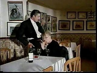 Blond Takes Two in Restaurant
