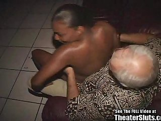 Wild Anal Black Chick Hardcore Theater Gang Bang Orgy