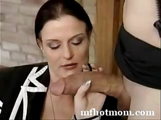 Mom Tries My Huge Cock
